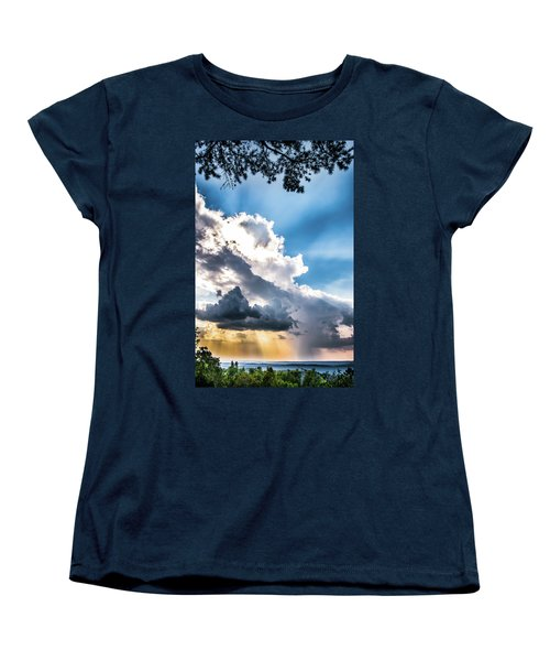 Women's T-Shirt (Standard Cut) featuring the photograph Mountain Sunset Sightings by Shelby Young