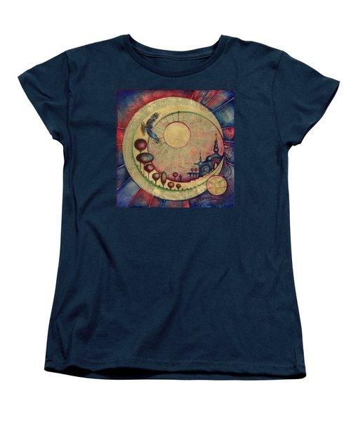 Mr Twardowski On The Moon Women's T-Shirt (Standard Cut) by Anna Ewa Miarczynska