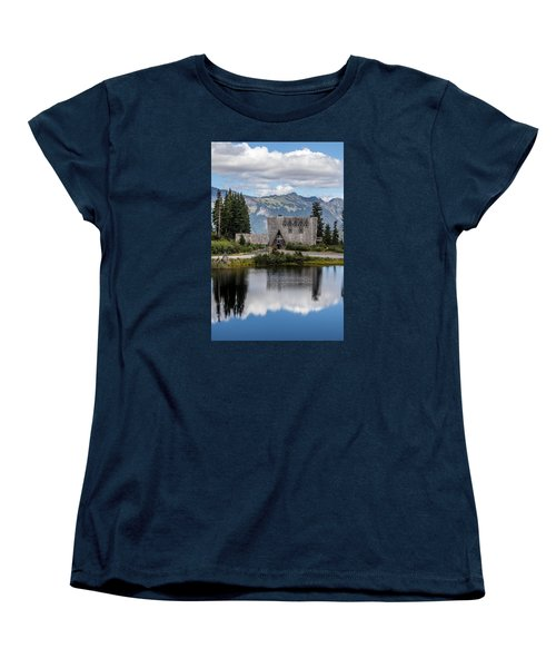 Mt Baker Lodge Reflecting In Picture Lake 3 Women's T-Shirt (Standard Cut) by Rob Green