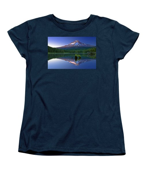Mt. Hood Reflection At Sunset Women's T-Shirt (Standard Cut)