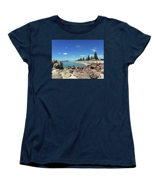 Women's T-Shirt (Standard Cut) featuring the photograph Mt Maunganui Beach 3 - Tauranga New Zealand by Selena Boron