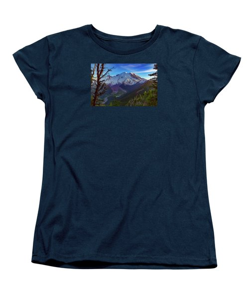 Mt Rainier At Emmons Glacier Women's T-Shirt (Standard Cut) by Ken Stanback