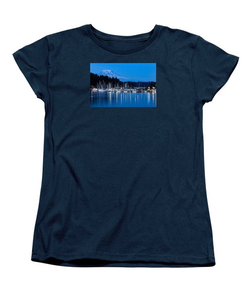 Women's T-Shirt (Standard Cut) featuring the photograph Mt. Rainier From Gig Harbor by Randy Bayne