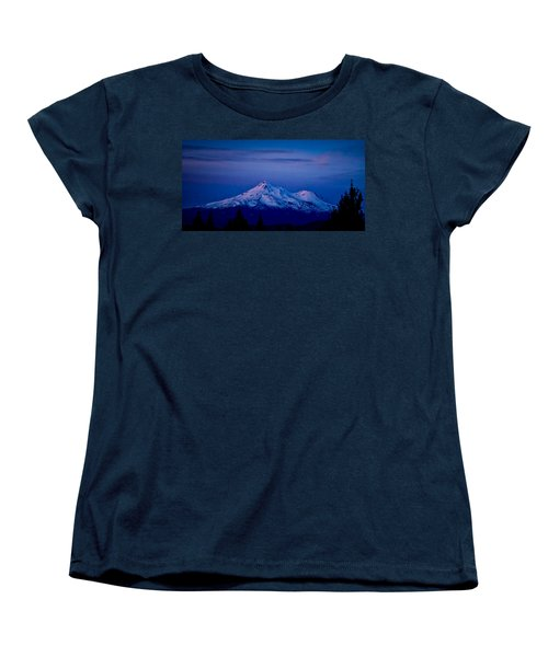 Mt Shasta At Sunrise Women's T-Shirt (Standard Cut) by Albert Seger