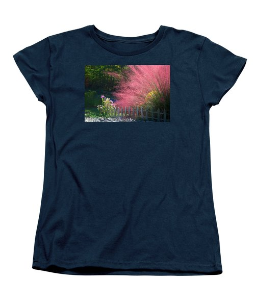 Women's T-Shirt (Standard Cut) featuring the photograph Muhly Grass by Kathryn Meyer