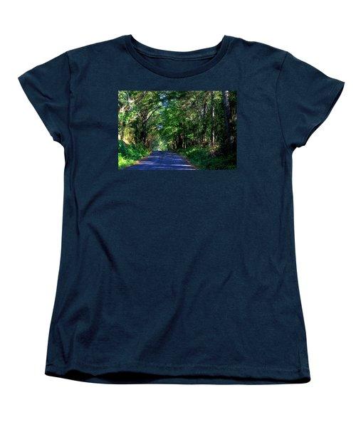 Women's T-Shirt (Standard Cut) featuring the photograph Murphy Mill Road - 2 by Jerry Battle