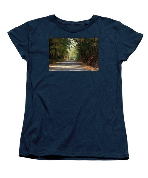 Women's T-Shirt (Standard Cut) featuring the photograph Murphy Mill Road by Jerry Battle
