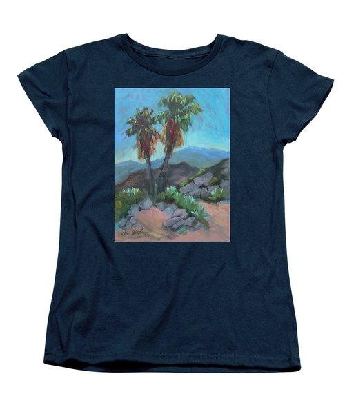 Women's T-Shirt (Standard Cut) featuring the painting Murray Trail Andreas Canyon by Diane McClary