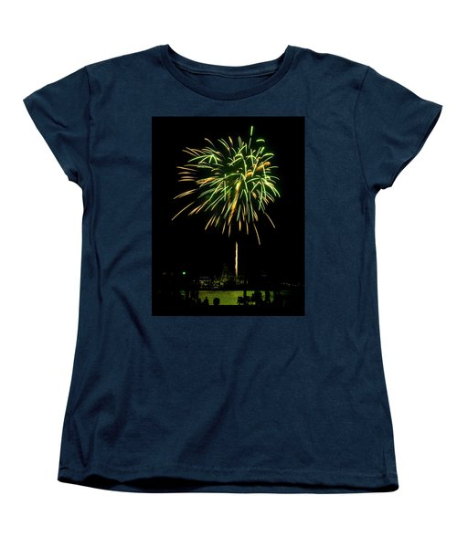Women's T-Shirt (Standard Cut) featuring the photograph Murrells Inlet Fireworks by Bill Barber
