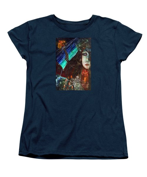Mushroom Girl Women's T-Shirt (Standard Cut) by Mikhail Savchenko