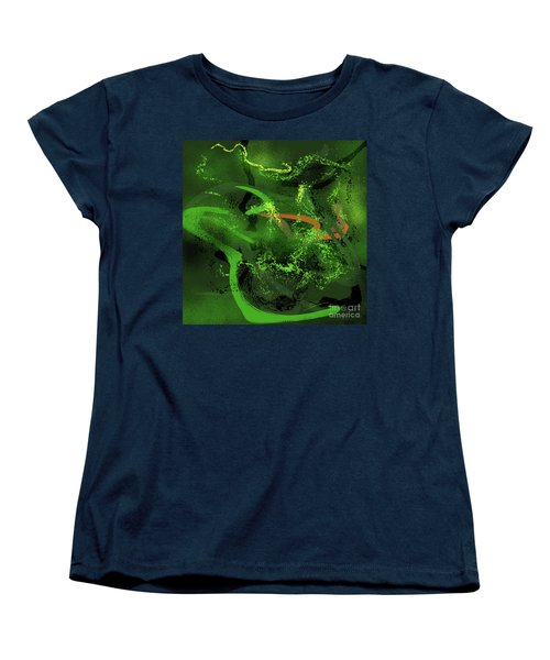 Women's T-Shirt (Standard Cut) featuring the painting Music In Green by S G