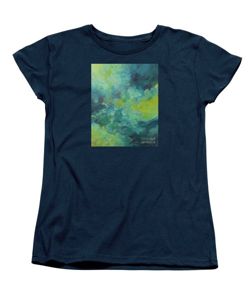 Women's T-Shirt (Standard Cut) featuring the painting Musing 117 by Elis Cooke