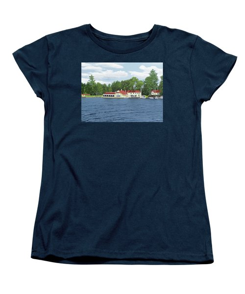 Women's T-Shirt (Standard Cut) featuring the painting Muskoka Lakes Golf And Country Club by Kenneth M Kirsch