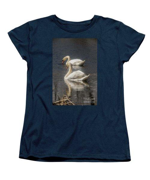Women's T-Shirt (Standard Cut) featuring the photograph Mute Swans by David Bearden