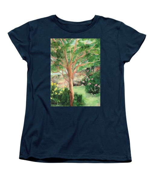 Women's T-Shirt (Standard Cut) featuring the painting My Backyard by Vicki  Housel