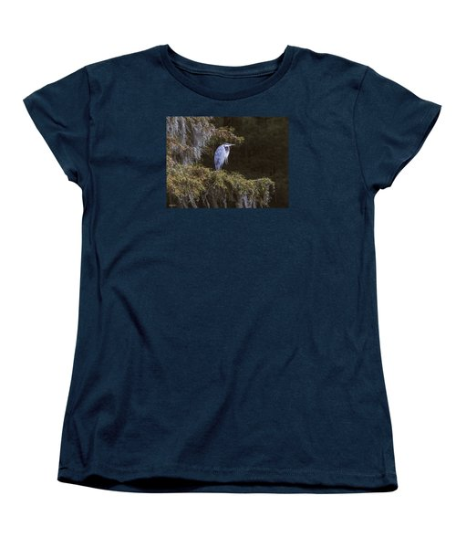 Women's T-Shirt (Standard Cut) featuring the photograph My Blue Heron by Phil Mancuso