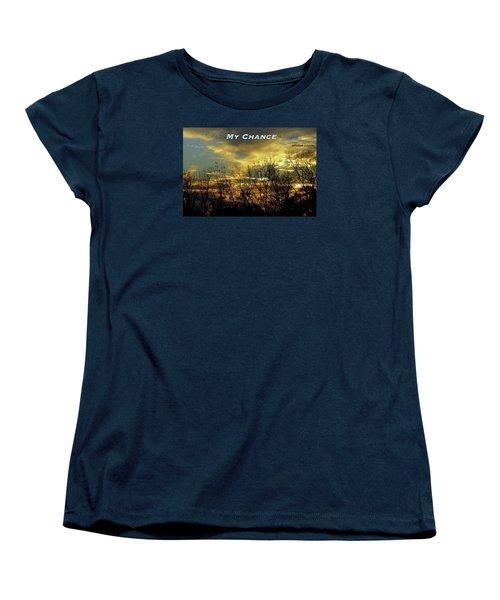 Women's T-Shirt (Standard Cut) featuring the photograph My Chance by David Norman