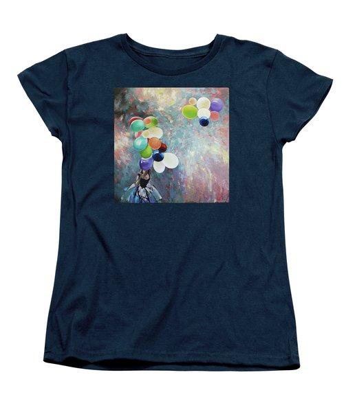 My Friend The Wind. Women's T-Shirt (Standard Cut) by Anastasija Kraineva
