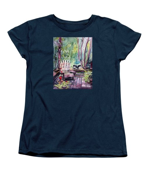 Women's T-Shirt (Standard Cut) featuring the painting My Front Porch by Gretchen Allen
