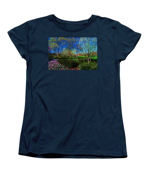My Garden In Spring Women's T-Shirt (Standard Cut) by Diana Mary Sharpton