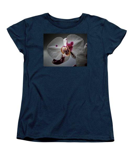 Women's T-Shirt (Standard Cut) featuring the photograph My Growling Dragon Orchid. by Karen Stahlros
