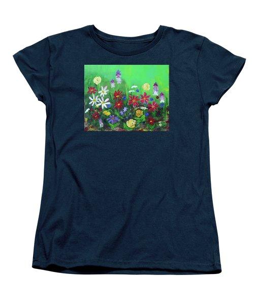 My Happy Garden 2 Women's T-Shirt (Standard Cut) by Haleh Mahbod