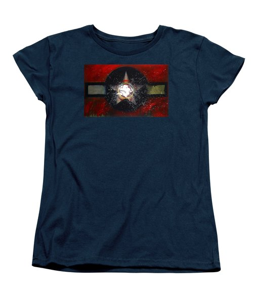 Women's T-Shirt (Standard Cut) featuring the painting My Indian Red by Charles Stuart