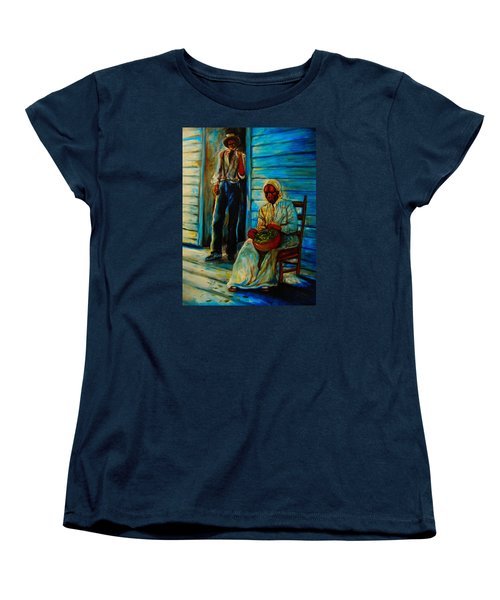 Women's T-Shirt (Standard Cut) featuring the painting My Mom by Emery Franklin