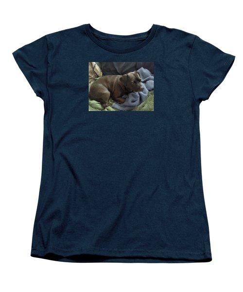 My Puppy Bella Women's T-Shirt (Standard Cut) by Jewel Hengen
