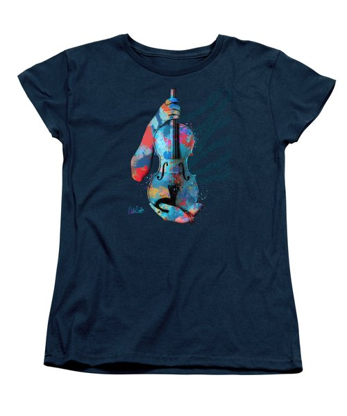 My Violin Whispers Music In The Night Women's T-Shirt (Standard Cut) by Nikki Marie Smith