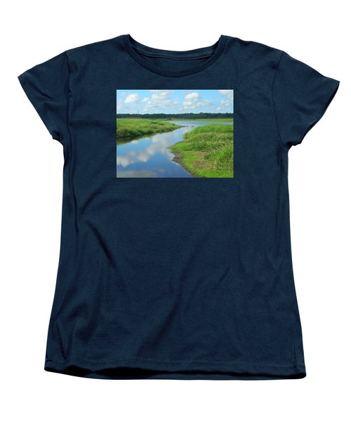 Women's T-Shirt (Standard Cut) featuring the photograph Myakka River Reflections by Emmy Marie Vickers