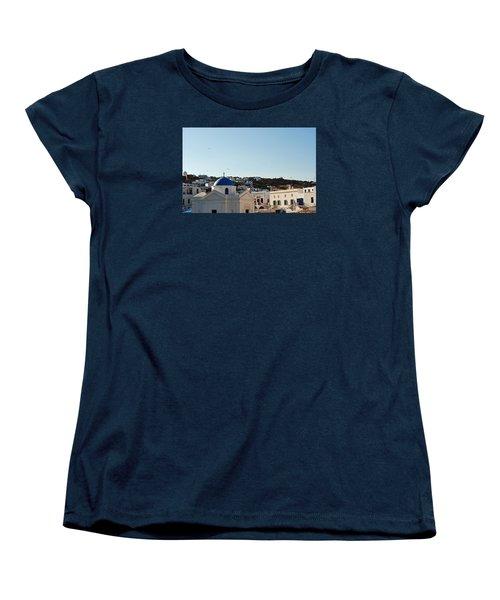 Mykonos Sunrise Women's T-Shirt (Standard Cut) by Robert Moss