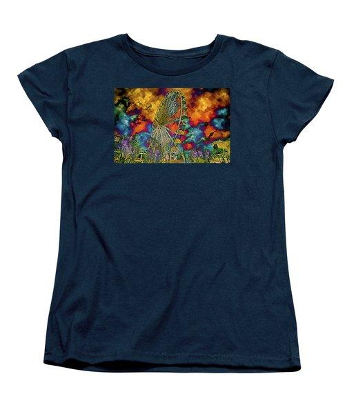 Myrtle Beach Skywheel Abstract Women's T-Shirt (Standard Cut) by Bill Barber