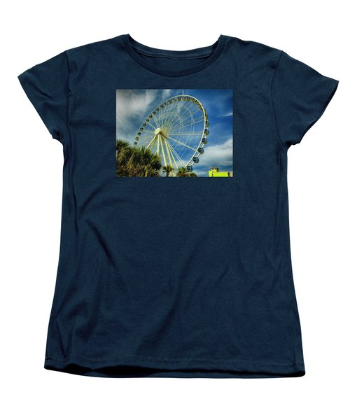 Myrtle Beach Skywheel Women's T-Shirt (Standard Cut) by Bill Barber