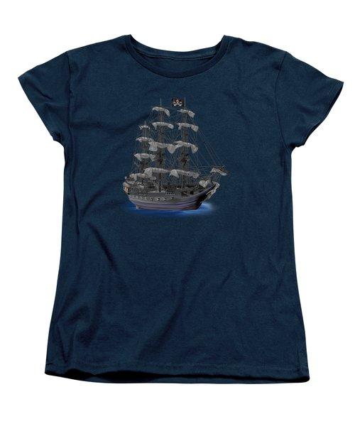 Mystical Moonlit Pirate Ship Women's T-Shirt (Standard Cut)