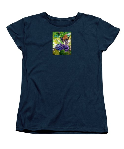 Women's T-Shirt (Standard Cut) featuring the painting Napa Harvest by Lance Gebhardt