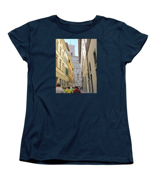 Narrow Street To Catherdal Square Women's T-Shirt (Standard Cut) by Allan Levin