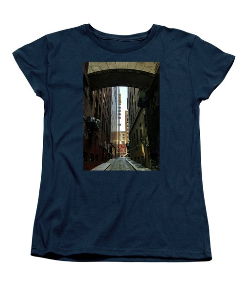 Narrow Streets Of Cobble Stone Women's T-Shirt (Standard Cut) by Bruce Carpenter