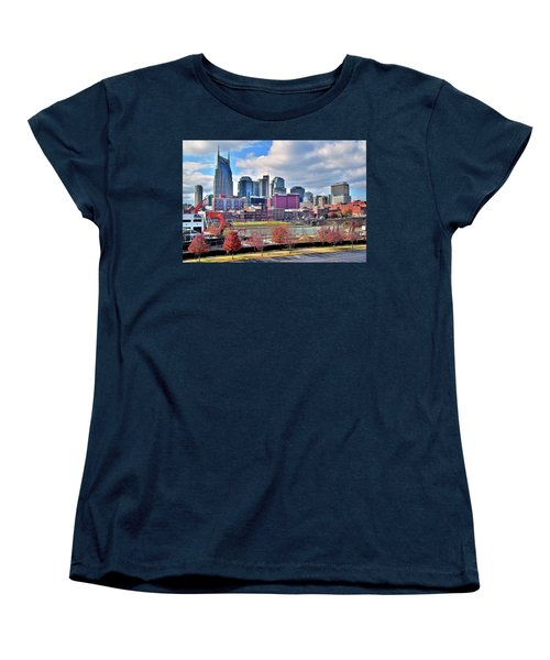 Women's T-Shirt (Standard Cut) featuring the photograph Nashville Clouds by Frozen in Time Fine Art Photography