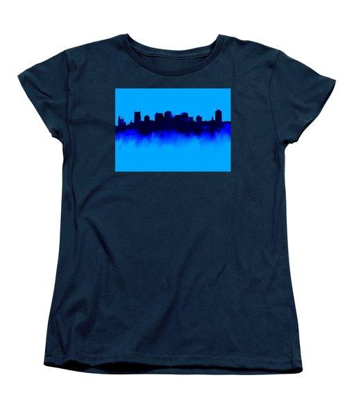 Nashville  Skyline Blue  Women's T-Shirt (Standard Cut) by Enki Art
