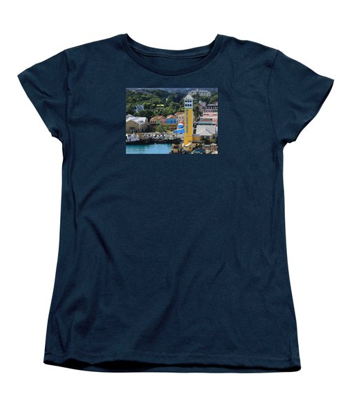 Women's T-Shirt (Standard Cut) featuring the photograph Nassau Bahamas by Coby Cooper