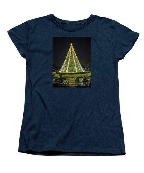 Women's T-Shirt (Standard Cut) featuring the photograph National Christmas Tree #1 by Sandy Molinaro