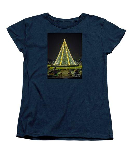 National Christmas Tree #1 Women's T-Shirt (Standard Cut) by Sandy Molinaro