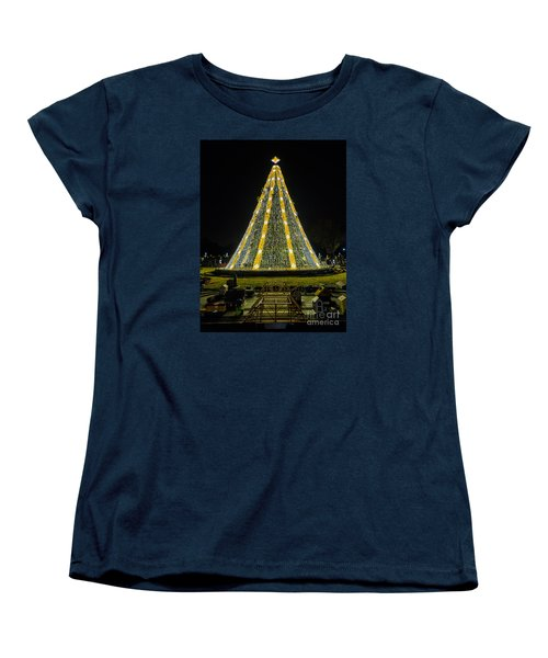 Women's T-Shirt (Standard Cut) featuring the photograph National Christmas Tree #2 by Sandy Molinaro