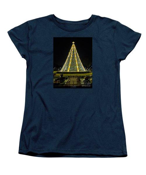 National Christmas Tree #2 Women's T-Shirt (Standard Cut) by Sandy Molinaro