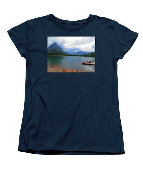 National Parks. Serenity Of Mcdonald Women's T-Shirt (Standard Cut) by Ausra Huntington nee Paulauskaite