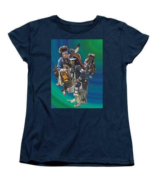 Native Children Entrance Women's T-Shirt (Standard Cut) by Audrey Robillard