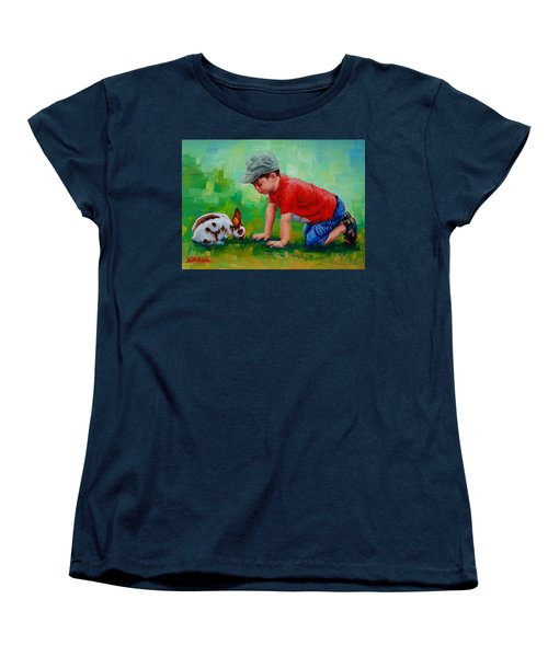 Women's T-Shirt (Standard Cut) featuring the painting Natural Wonder by Margaret Stockdale