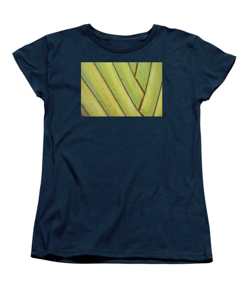Nature Background, Green Leaves, Flowers In Natural Light And Sh Women's T-Shirt (Standard Cut)
