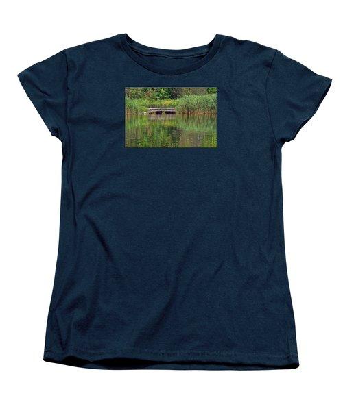 Nature In Green Women's T-Shirt (Standard Cut) by Mikki Cucuzzo